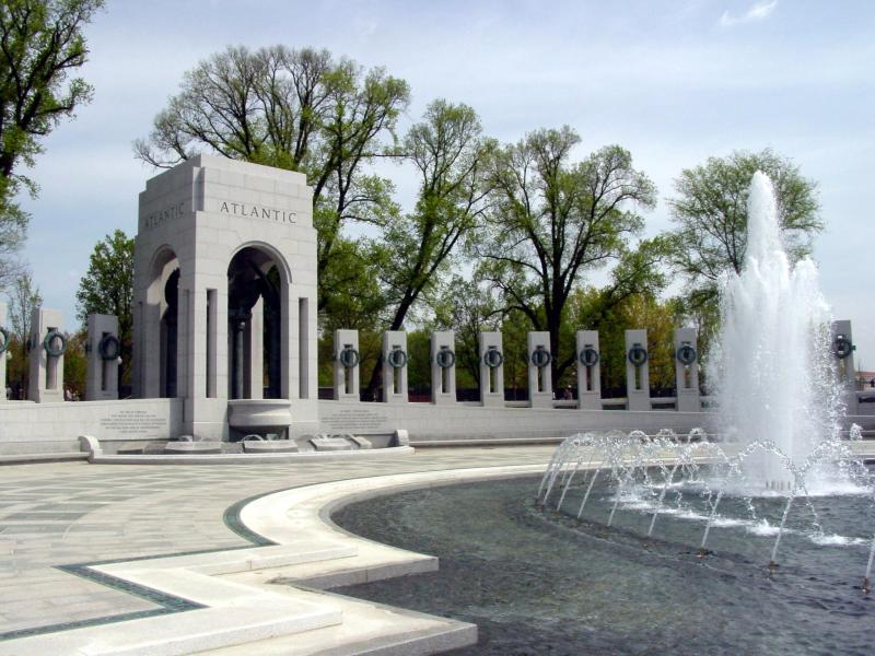 The World War II Memorial is the newest monument in Washington DC. It is a beautiful place to visit and commemorate World War II veterans. The memorial opened to the public on April 29, 2004.