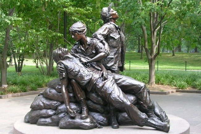 The Vietnam Women`s Memorial is a memorial serves as a reminder of the women of Unites States who served in the Vietnam War.